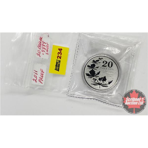 Canada 2011 Proof $20 Dollars (.9999)