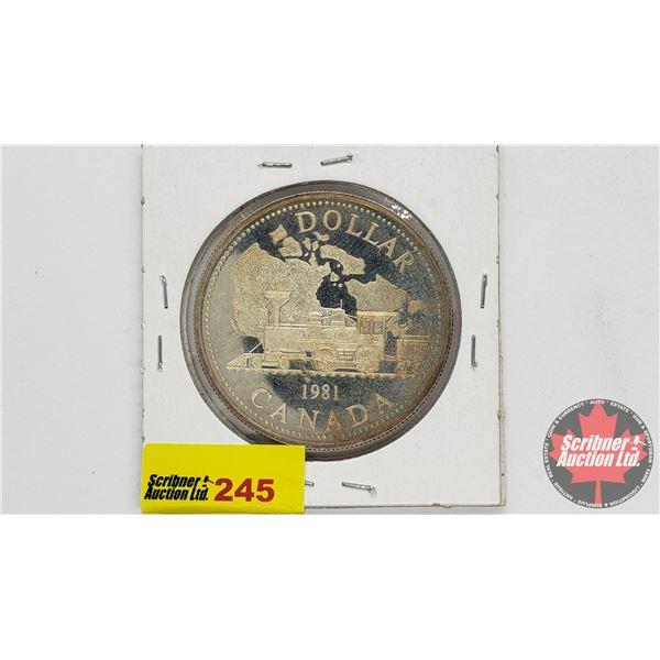 Canada Silver Proof Dollar 1981