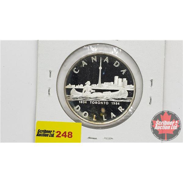 Canada Silver Dollar 1984