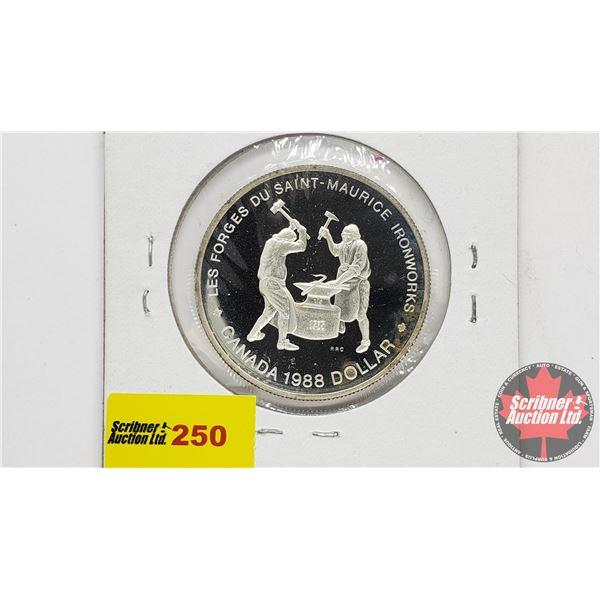Canada Silver Dollar 1988