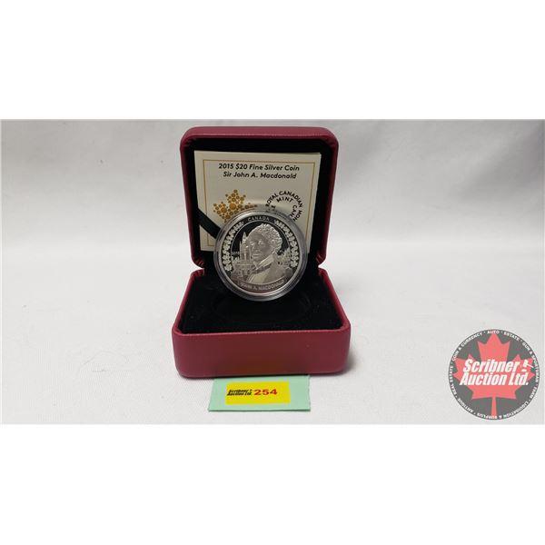 RCM 2015 $20 Fine Silver Coin Sir John A. Macdonald (99.99%)