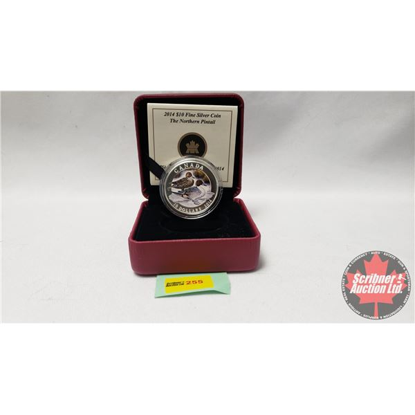 RCM 2014 $10 Fine Silver Coin The Northern Pintail (99.99%)