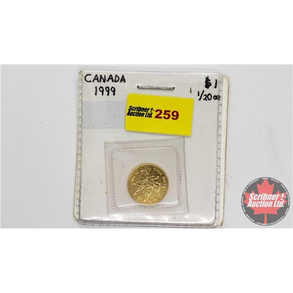 Canada Fine Gold 1/20 oz One Dollar 1999 Coin (.9999)