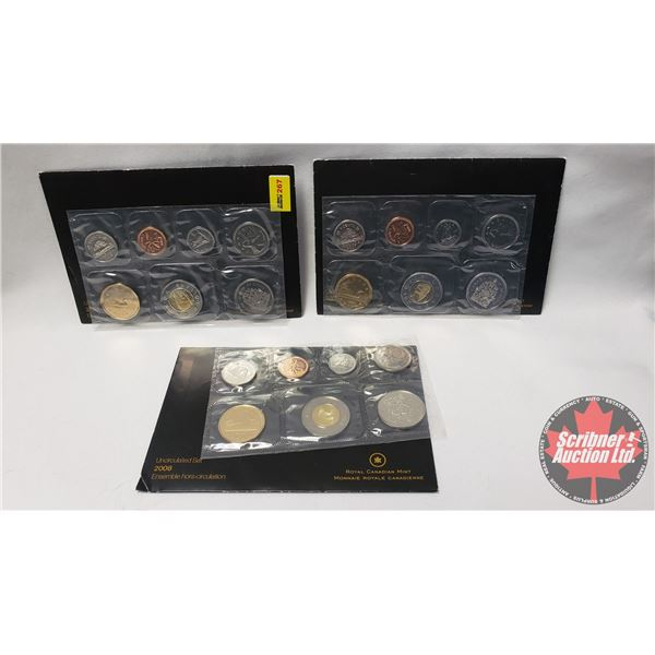 RCM Uncirculated Coin Sets (3) : 2006 ; 2007 ; 2008