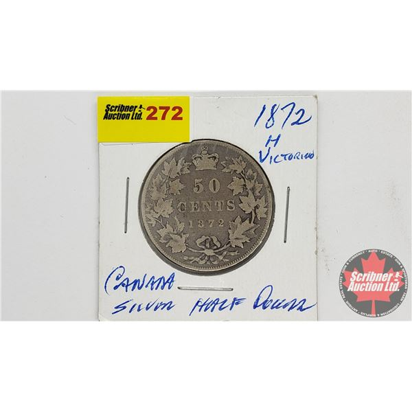 Canada Fifty Cent 1872H