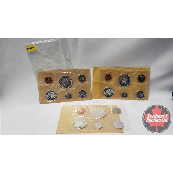 RCM Uncirculated Coin Sets (3) : 1962; 1963; 1964