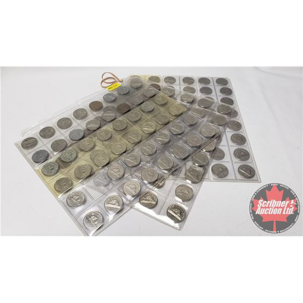 Canada Five Cent Collection (143): 1940's, 50's, 60's, 70's