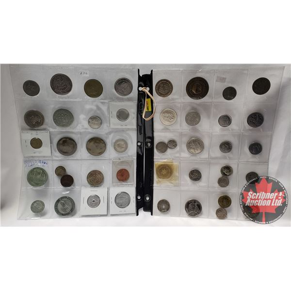 Domestic & Foreign Coin/Token Collection (43) (See Pics for Varieties)