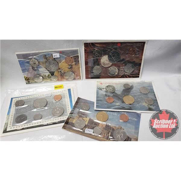 RCM Uncirculated Coin Year Sets (5) : 1984; 1985; 1987; 1992; 1992