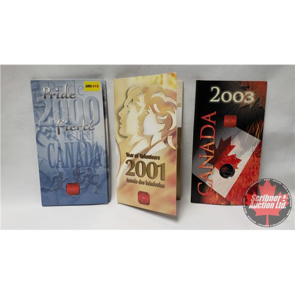 RCM Yearly Quarters (New in Packages) : Pride 2000; Year of Volunteers 2001; Canada 2003