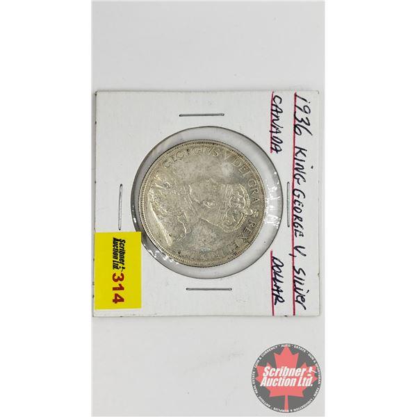 Canada Silver Dollar 1936