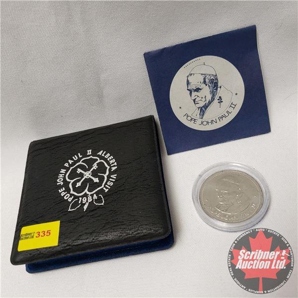 Pope John Paul II 1984 Alberta Visit Medallion