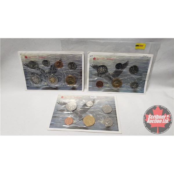 RCM Uncirculated Coin Year Sets (3): 1992; 1993; 1997