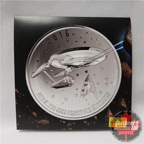 RCM 2016 Fine Silver $20 Coin (.9999) Star Trek Enterprise