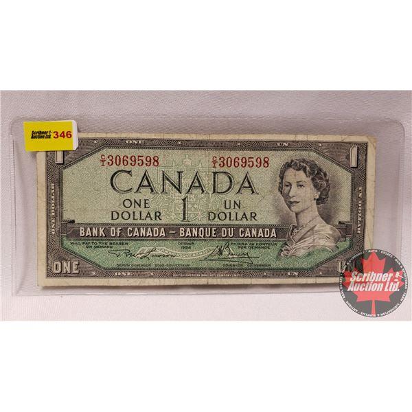 Canada $1 Bill 1954 : Lawson/Bouey # CI3069598