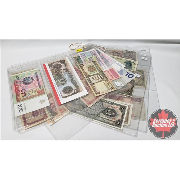 Large Collection of Foreign Notes/Bills (24) (Ecuador, Afghanistan, France, Indonesia, Mexico, etc !