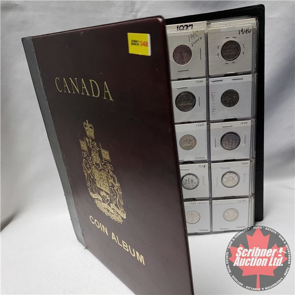 Binder Lot - Canada Five Cent Coin Collection (130 Coins - Many Varieties) (1920's, 1930's, 40's, 50
