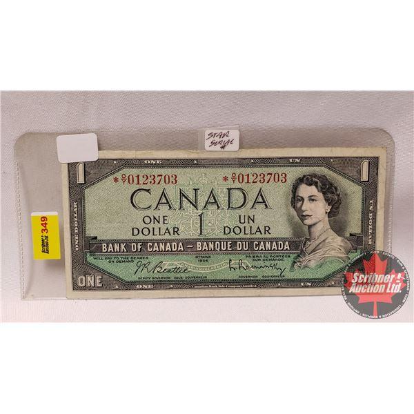 Canada $1 Bill 1954 *Replacement : Beattie/Rasminsky # *OY0123703