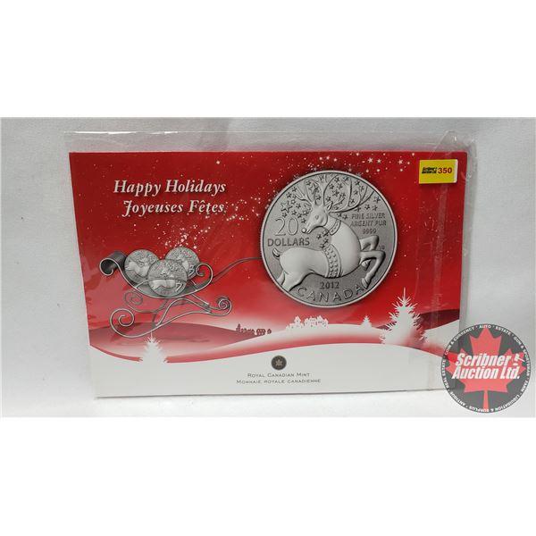 RCM Happy Holidays Twenty Dollars Fine Silver Coin 2012 (.9999)