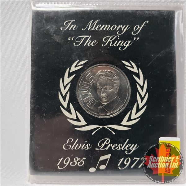 """In Memory of """"The King"""" Elvis Presley 1935-1977 (Official Commemorative Minted Medallion Coin)"""