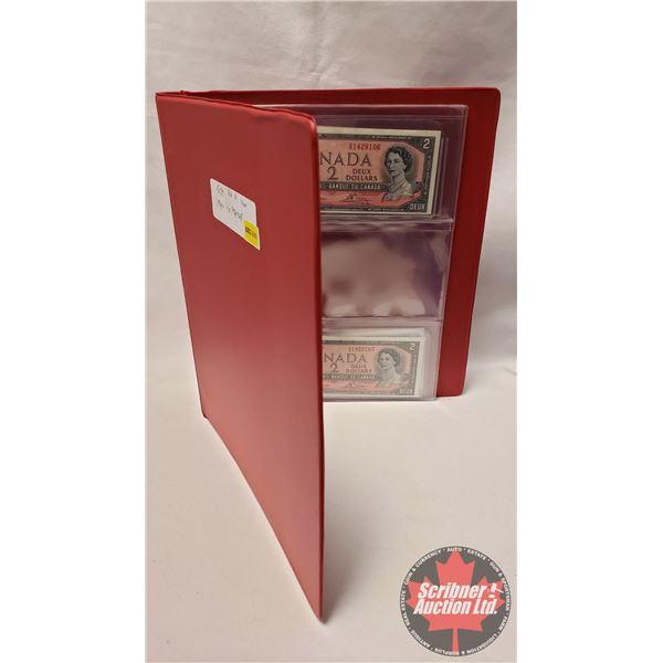 Canada $2 Bills (4 Consecutive) : Lawson/Bouey #SG1428106-107-108-109