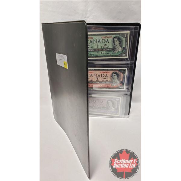 Canada Bills 1954 *REPLACEMENT Series (4 Bills): $1; $2; $5; $10 (See Pics for Signatures/Serial Num