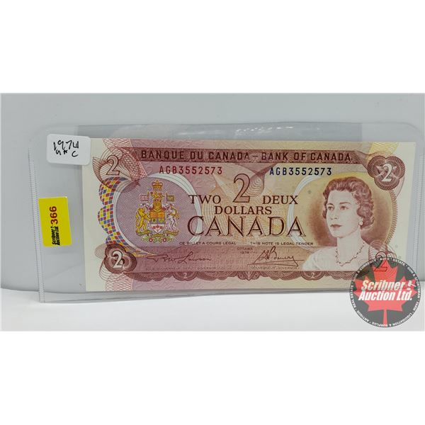 Canada $2 Bill : Lawson/Bouey #AGB3552573