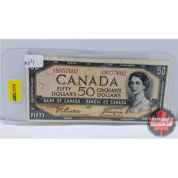 Canada $50 Bill 1954 : Beattie/Coyne #AH8957602