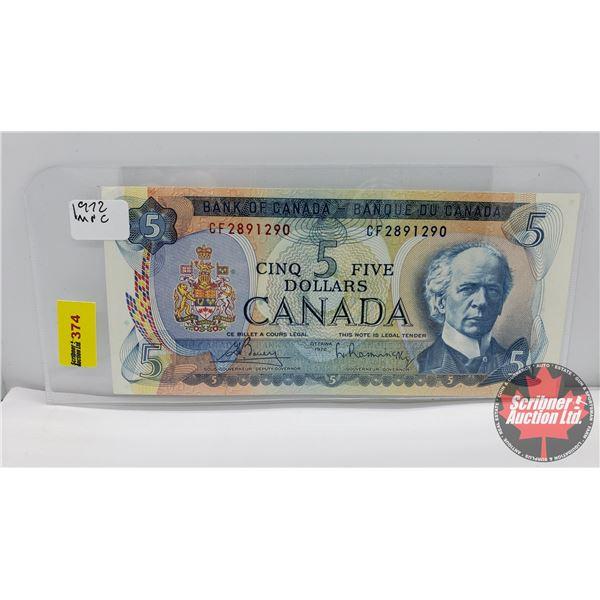 Canada $5 Bill 1972 : Bouey/Rasminsky #CF2891290