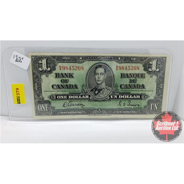 Canada $1 Bill 1937 : Gordon/Towers #NA9845208