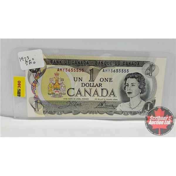 Canada $1 Bill 1973 : Crow/Bouey #AMY5655555