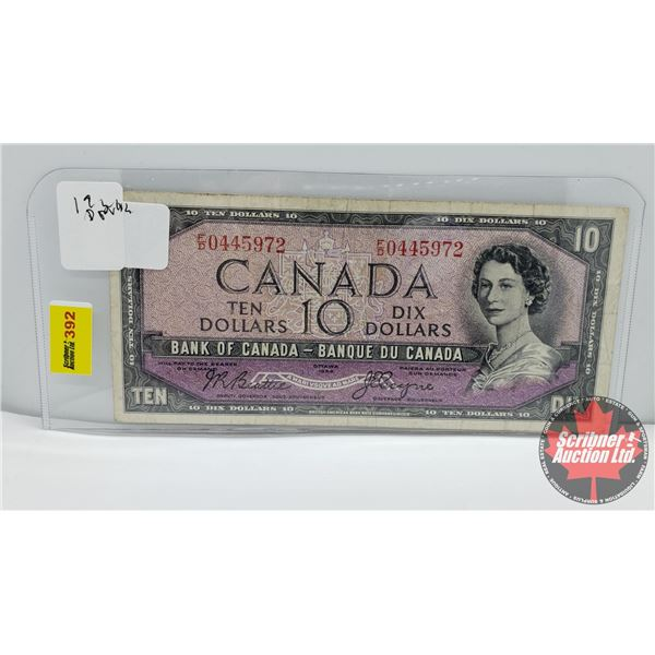 Canada $10 Bill 1954DF : Beattie/Coyne #FD0445972
