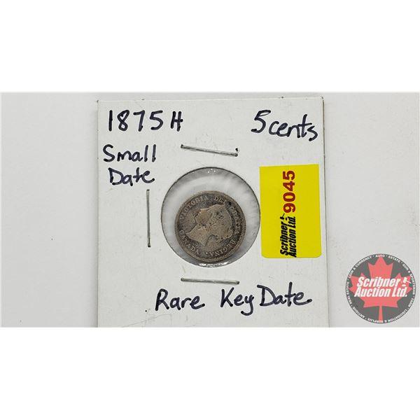 Canada Five Cent 1875H