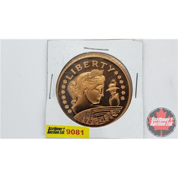 American Revolution Bicentennial Copper Token 1776-1976