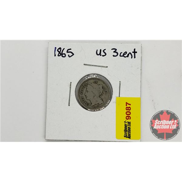USA Three Cent 1865