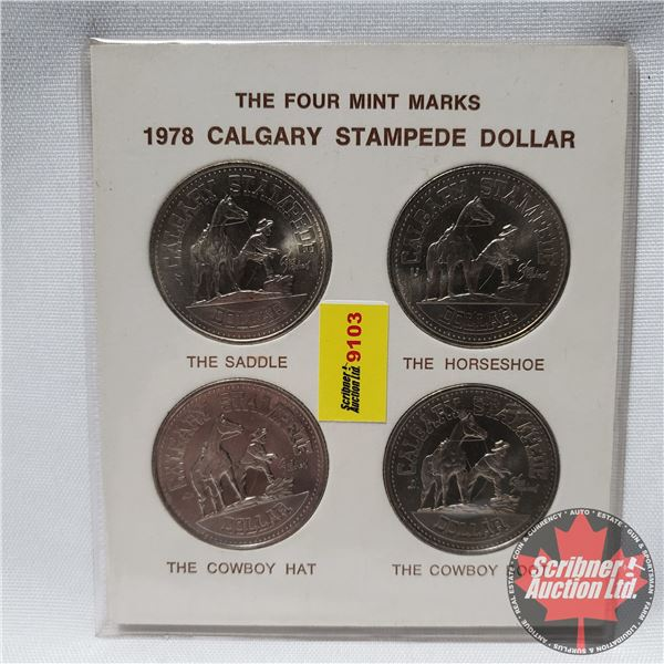 1978 Calgary Stampede Dollar - The Four Mint Marks