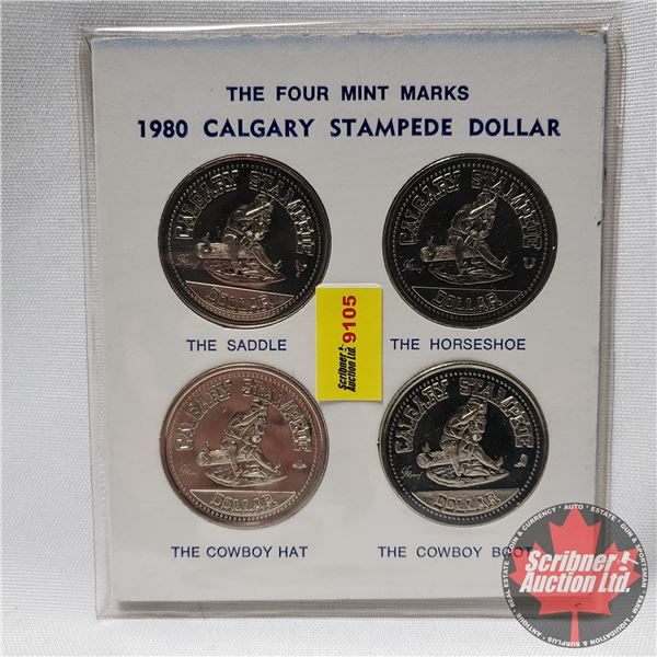 1980 Calgary Stampede Dollar - The Four Mint Marks