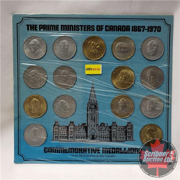 Prime Ministers of Canada 1867-1970 : Commemorative Medallions