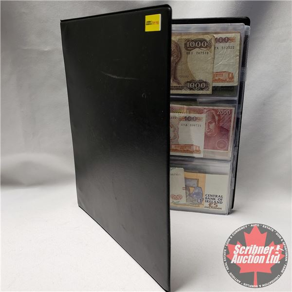 Binder Lot: Incredible Collection of Foreign Bills (30) & Foreign Coins (197) (See Pics!)