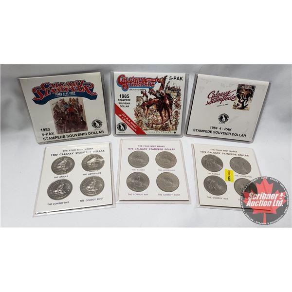 Calgary Stampede Dollar Sets (1978; 1979; 1980; 1983; 1984; 1985)