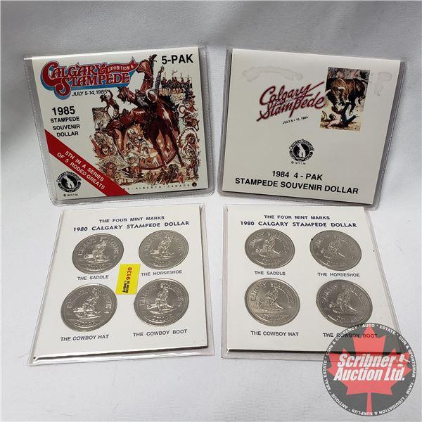 Calgary Stampede Dollar Sets (1980; 1980; 1984; 1985)