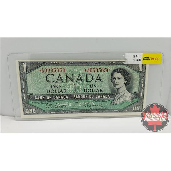 Canada $1 Bill 1954 *Replacement : Beattie/Rasminsky # *0635650