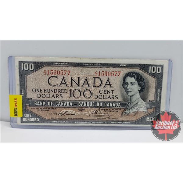Canada $100 Bill 1954 : Lawson/Bouey #CJ1530577