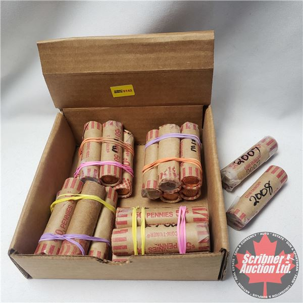 Canada Pennies (22 Rolls) Variety Years (Mixed) (NOTE: Rolls not opened by the Auction Company, so q