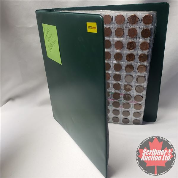 Canada Penny Collection - Binder Lot (616 Coins) (1930's - 2000's) (See Pics)