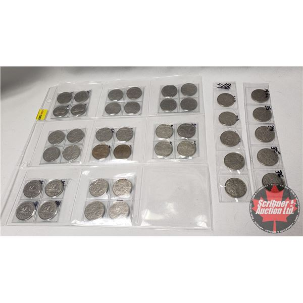 Canada Five Cent Collection  (38 Coins) (1920's ; 1930's)