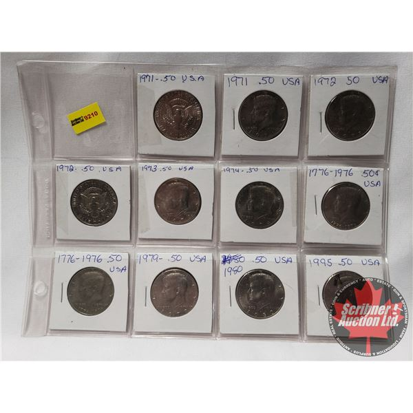 USA FIFTY CENT(11): 1971; 1971; 1972; 1972; 1973; 1974; 1976; 1976; 1979; 1980; 1995