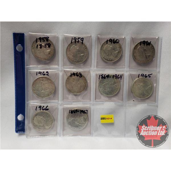 Canada One Dollar (10): 1958; 1959; 1960; 1961; 1962; 1963; 1964; 1965; 1966; 1967