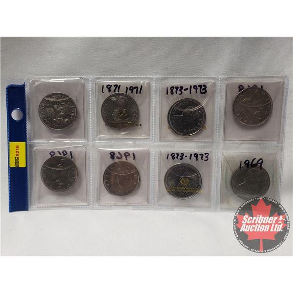 Canada One Dollar (8): 1970; 1971; 1973; 1968; 1968; 1968; 1973; 1969