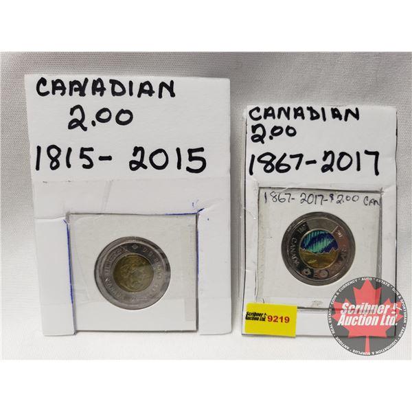 Canada Toonies (2): 2015; 2017